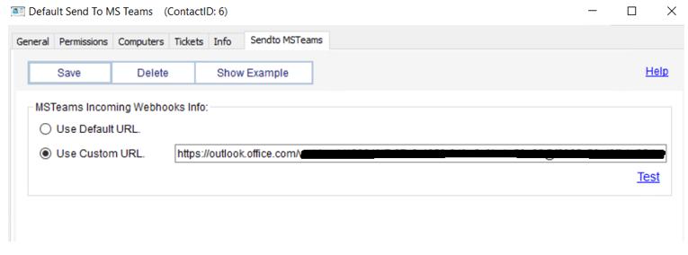 how to use custom url in ms teams